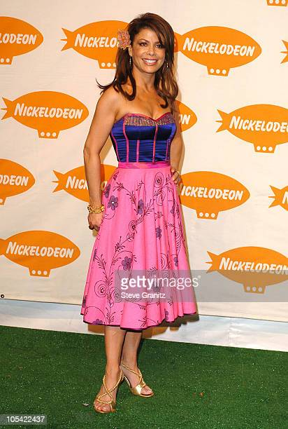 Paula Abdul during Nickelodeon's 18th Annual Kids Choice Awards Press Room at Pauley Pavillion in Los Angeles California United States