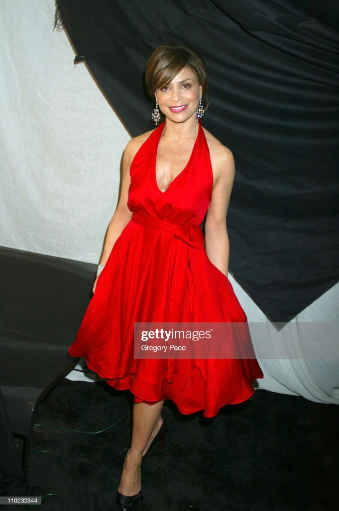 Paula Abdul during Olympus Fashion Week Fall 2005 - Heart Truth Red Dress Collection - Special Post-Show Meet and Greet with First Lady Laura Bush at Bryant Park Tents in New York City, New York, United States.