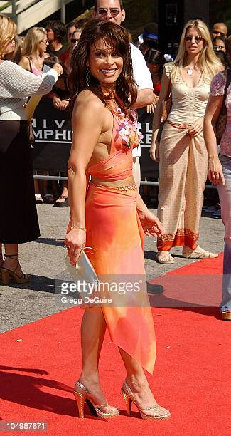 Paula Abdul during The 2002 Teen Choice Awards Arrivals at The Universal Amphitheatre in Universal City California United States