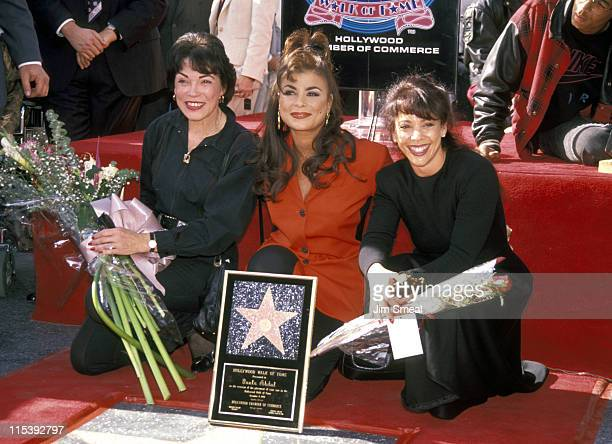 Paula Abdul Mother Lorraine And Sister Wendy during Paula Abdul Receives Star on Hollywood Walk of Fame in Hollywood California United States