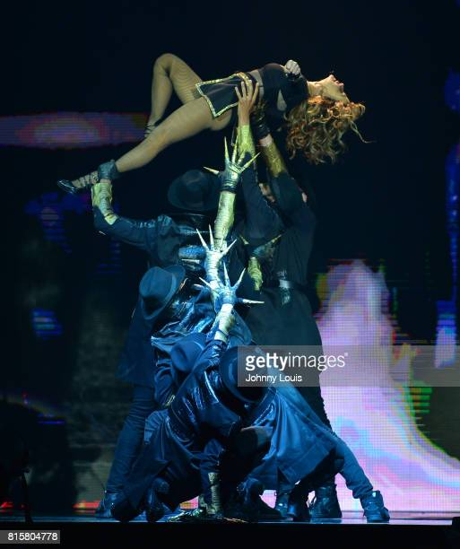 Paula Abdul performs during The Total Package Tour at Hard Rock Live at Seminole Hard Rock Hotel Casino Hollywood on July 16 2017 in Miami Florida