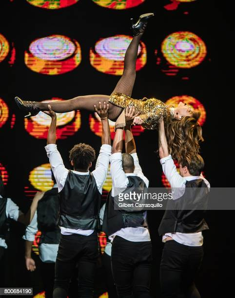 Paula Abdul performs during 'The Total Package Tour' at Wells Fargo Center on June 24 2017 in Philadelphia Pennsylvania