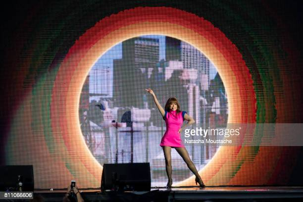 Paula Abdul performs on stage at Fenway Park on July 8 2017 in Boston City