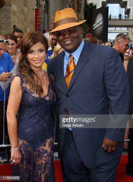 Paula Abdul Randy Jackson during 'American Idol' Season 1 Finale Results Show Arrivals at Kodak Theater in Hollywood California United States