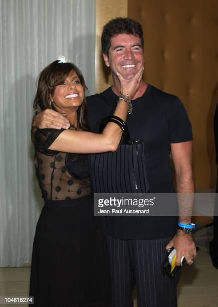 Paula Abdul Simon Cowell judges on 'American Idol'