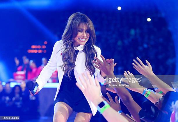 Paula Abdul walks on stage during WE Day Minnesota at Xcel Energy Center on September 20 2016 in St Paul Minnesota