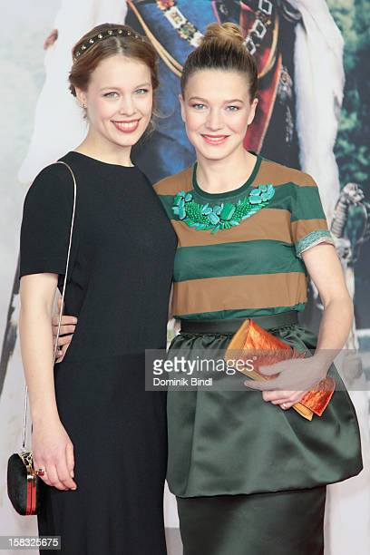 Paula Beer and Hannah Herzsprung attend Ludwig II Germany Photocall at HVB Forum on December 13 2012 in Munich Germany