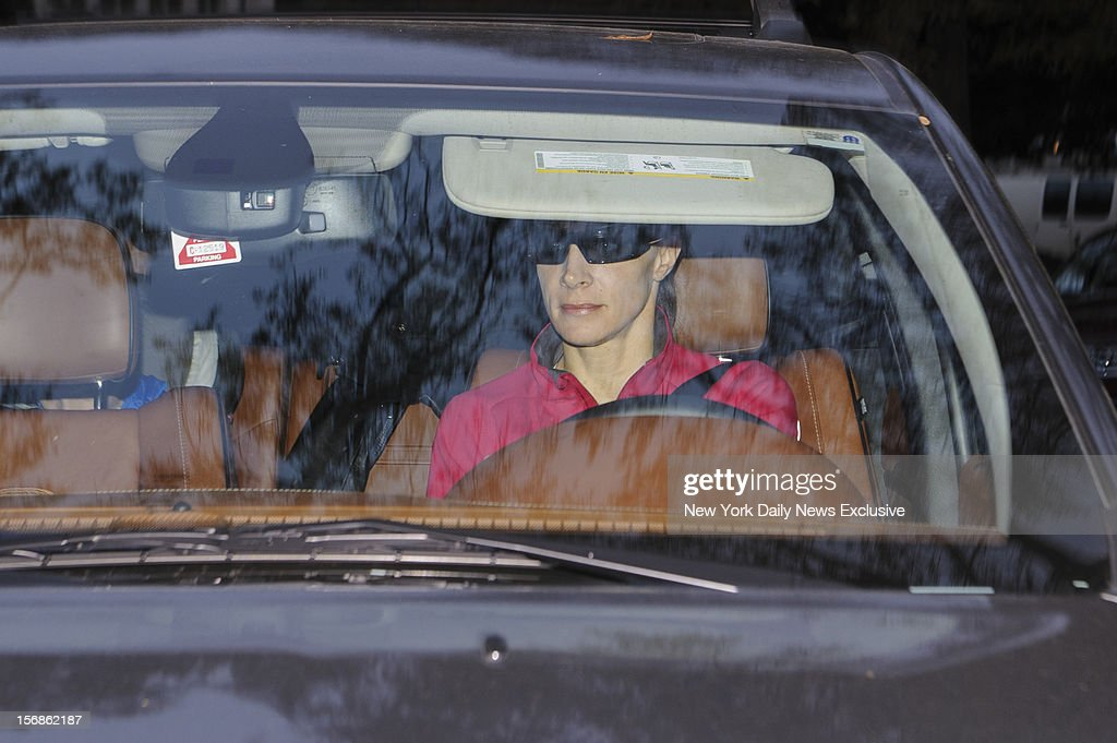 Paula Broadwell prepares to drop off her two children at school on Monday, November 19, 2012 in Charlotte, North Carolina.
