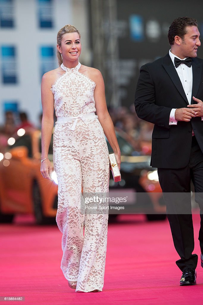 Paula Creamer and her husband Derek walk the Red Carpet event at the World Celebrity Pro-Am 2016 Mission Hills China Golf Tournament on October 20, 2016 in Haikou, China.