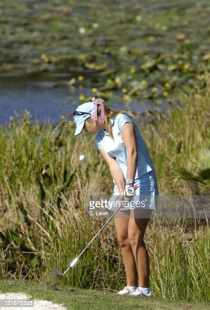 Paula Creamer during the third round of the ADT Championship at the Trump International Golf Club in West Palm Beach Florida on Saturday November 18...