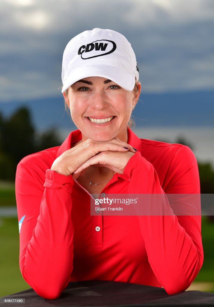 Paula Creamer of USA poses for a picture after the pro - am prior to the start of The Evian Championship at Evian Resort Golf Club on September 13, 2017 in Evian-les-Bains, France.