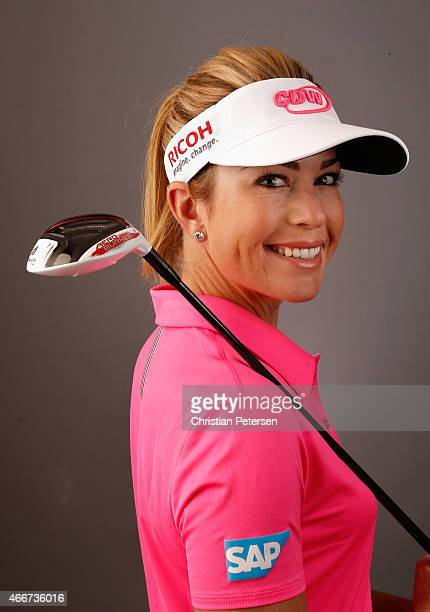 Paula Creamer poses for a portrait ahead of the LPGA Founders Cup at Wildfire Golf Club on March 18 2015 in Phoenix Arizona