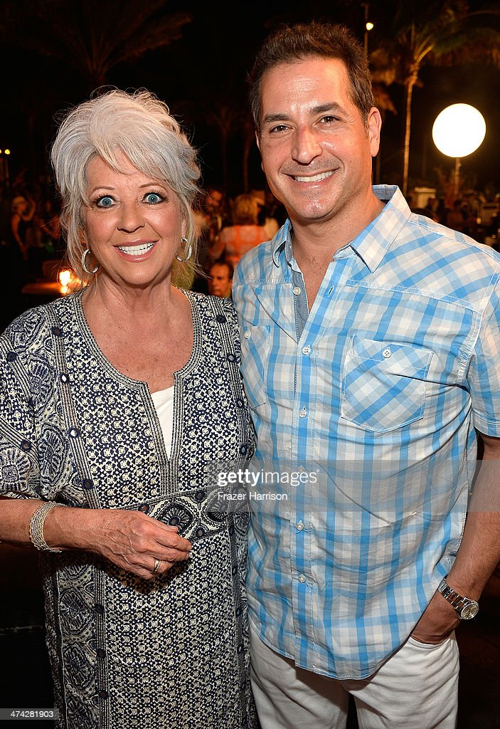 <a gi-track='captionPersonalityLinkClicked' href=/galleries/search?phrase=Paula+Deen&family=editorial&specificpeople=875895 ng-click='$event.stopPropagation()'>Paula Deen</a> and Bobby Deen attend the Thrillist's BBQ & The Blues hosted by Bobby Deen during the Food Network South Beach Wine & Food Festival at Eden Roc Hotel on February 22, 2014 in Miami Beach, Florida.