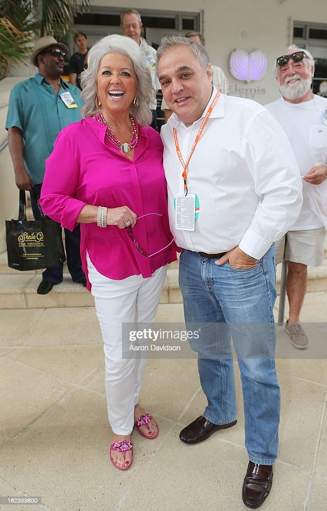 <a gi-track='captionPersonalityLinkClicked' href=/galleries/search?phrase=Paula+Deen&family=editorial&specificpeople=875895 ng-click='$event.stopPropagation()'>Paula Deen</a> and Lee Schrager at the Today Show during the South Beach Wine and Food Festival>> at Loews Miami Beach on February 22, 2013 in Miami Beach, Florida.