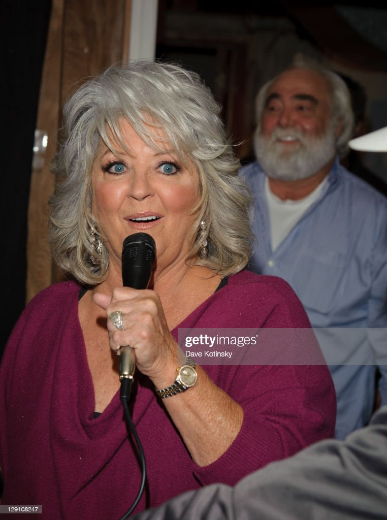 <a gi-track='captionPersonalityLinkClicked' href=/galleries/search?phrase=Paula+Deen&family=editorial&specificpeople=875895 ng-click='$event.stopPropagation()'>Paula Deen</a> and Michael Groover promote the new book 'Paula's Southern Cooking Bible' at Bookends Bookstore on October 12, 2011 in Ridgewood, New Jersey.