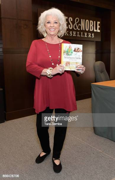 Paula Deen attends her book signing for 'At The Southern Table' at Barnes Noble at The Grove on October 1 2017 in Los Angeles California