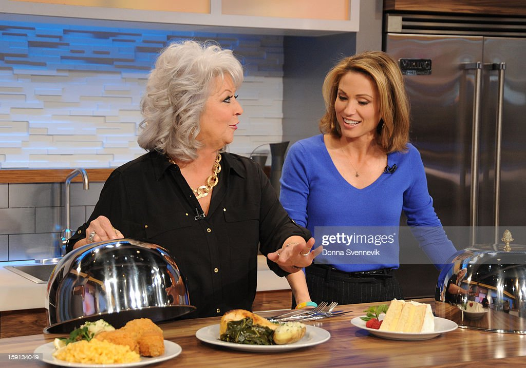 AMERICA - Paula Deen shares recipes on 'Good Morning America,' 1/8/13, airing on the ABC Television Network. (Photo by Donna Svennevik/ABC via Getty Images) PAULA