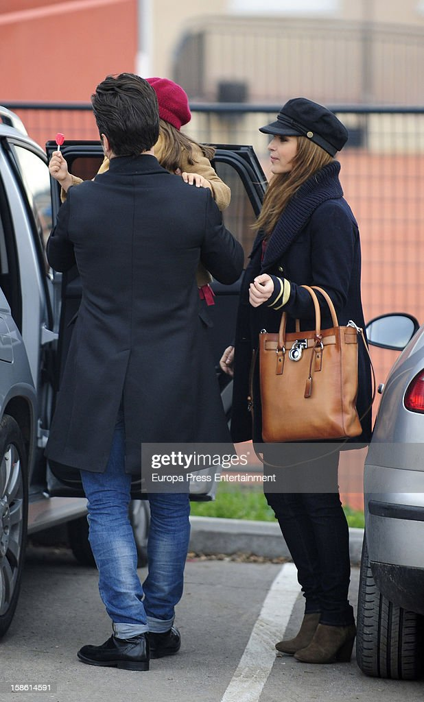 Paula Echevarria and David Bustamante are seen on December 21, 2012 in Madrid, Spain.