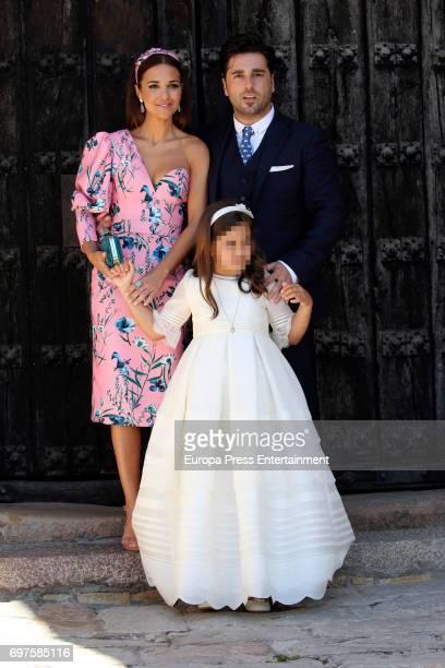 Paula Echevarria and David Bustamante attend the First Communion of their daughter Daniella Bustamante in San Vicente de la Barquera on June 17 2017...