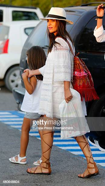 Paula Echevarria and her daughter Daniela Bustamante are seen on July 13 2015 in Ibiza Spain