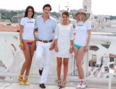 Paula Echevarria and Luis Medina present Calzedonia's Summer Party on June 9 2011 in Madrid Spain