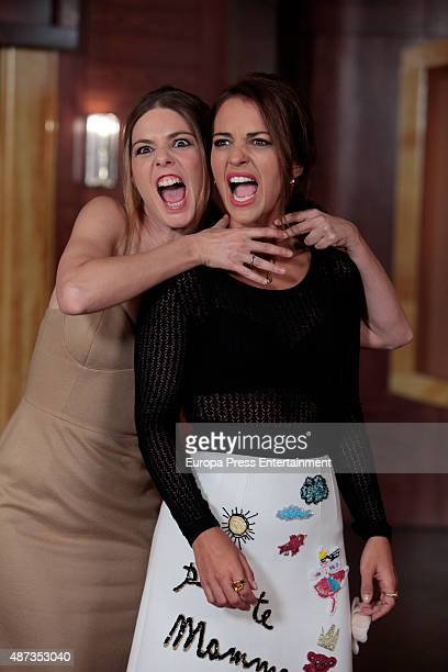 Paula Echevarria and Manuela Velasco attend 'Velvet' third Season presentation at Atresmedia headquarters on September 8 2015 in Madrid Spain