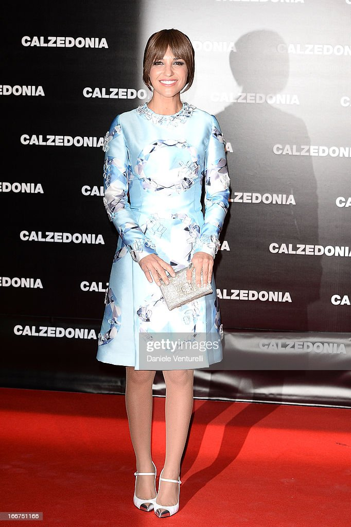 Paula Echevarria arrives at the Calzedonia 'Forever Together' show on April 16 2013 in Rimini Italy