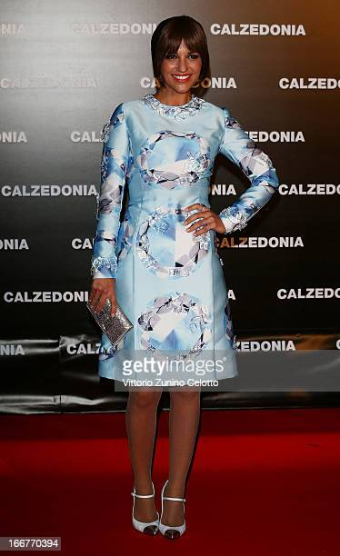 Paula Echevarria attends Calzedonia Summer Show Forever Together on April 16 2013 in Rimini Italy