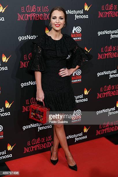 Paula Echevarria attends 'El Club de los Incomprendidos' Premiere on December 1 2014 in Madrid Spain