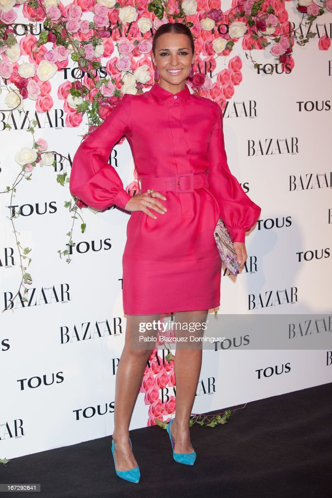 Paula Echevarria attends the presentation of the new fragrance 'Rosa' at Ritz Hotel on April 23, 2013 in Madrid, Spain.