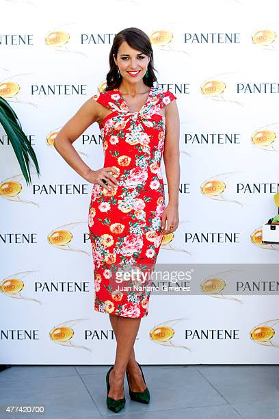 Paula Echevarria attends the presentation of the Pantene Summer Campaign at Inniside Madrid Genova Hotel on June 17 2015 in Madrid Spain