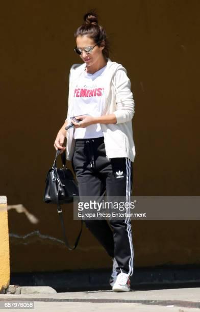 Paula Echevarria is seen on April 11 2017 in Madrid Spain