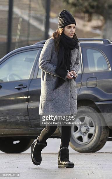 Paula Echevarria is seen on February 11 2013 in Madrid Spain