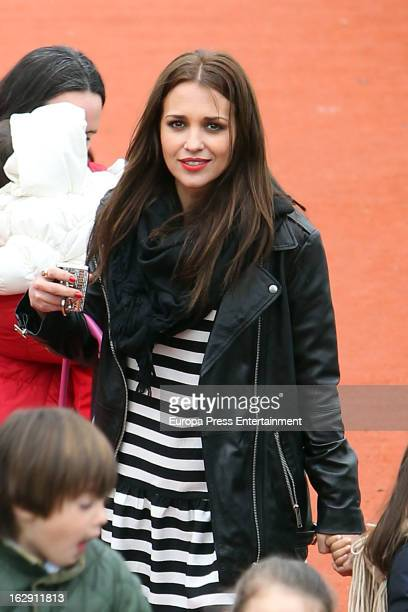 Paula Echevarria is seen on February 21 2013 in Madrid Spain