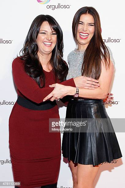 Paula Garces and Roselyn Sanchez attend the Nueva Latina campaign launch at Helen Mills Event Space on February 26 2014 in New York City