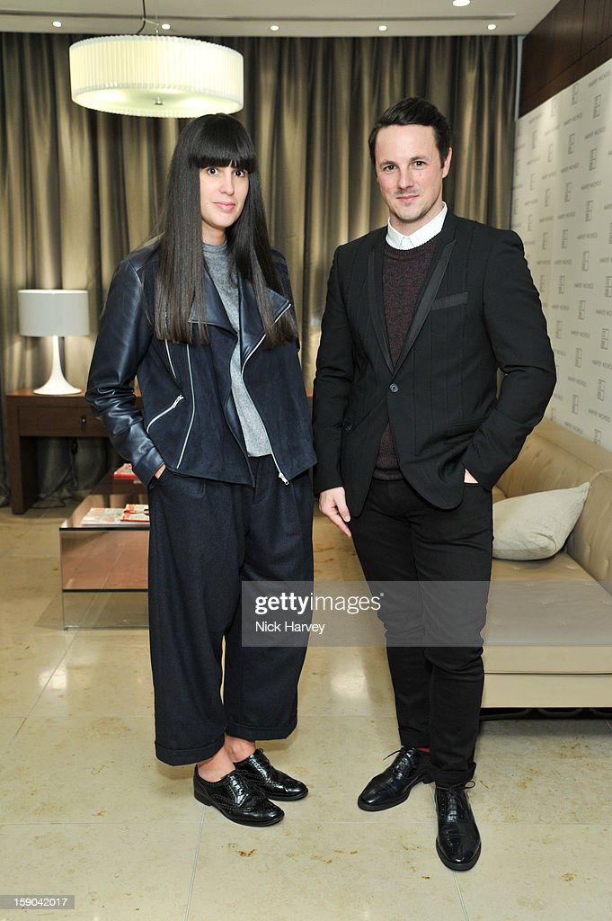 Paula Gerbase and Darren Skey attend the launch of 1205 Paula Gerbase Hosted By Harvey Nichols ahead of the London Collections: MEN AW13>> at on January 6, 2013 in London, England.