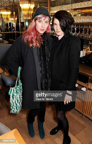 Paula Goldstein and Ben Grimes attend a private lunch to celebrate US fashion brand Maiyet at The Corner Restaurant Champagne Bar in Selfridges on...