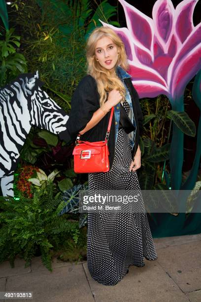 Paula Goldstein arrives at Roger Vivier Summer Party at Loulou's on May 22 2014 in London England