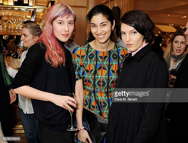 Paula Goldstein Caroline Issa and Ben Grimes attend a private lunch to celebrate US fashion brand Maiyet at The Corner Restaurant Champagne Bar in...