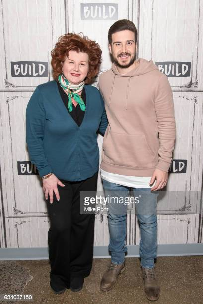Paula Guadagnino and Vinny Guadagnino visit Build Series to discuss 'Vinny Ma Eat America' at Build Studio on February 6 2017 in New York City