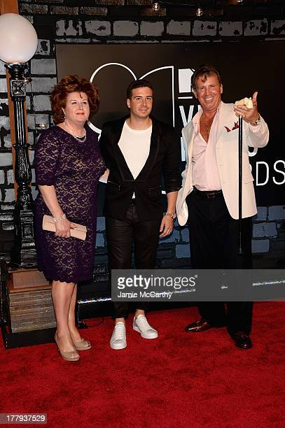 Paula Guadagnino Vinny Guadagnino and Uncle Nino attend the 2013 MTV Video Music Awards at the Barclays Center on August 25 2013 in the Brooklyn...