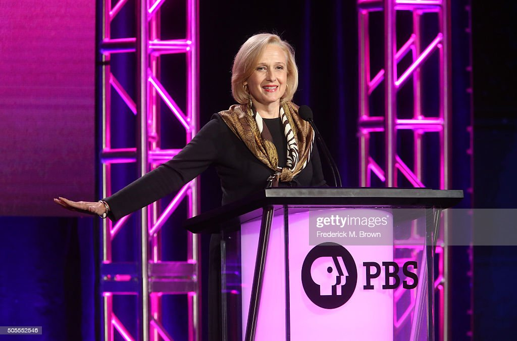 Paula Kerger President and CEO PBS speaks onstage during the PBS Executive Session as part of the PBS portion of the 2016 Television Critics...