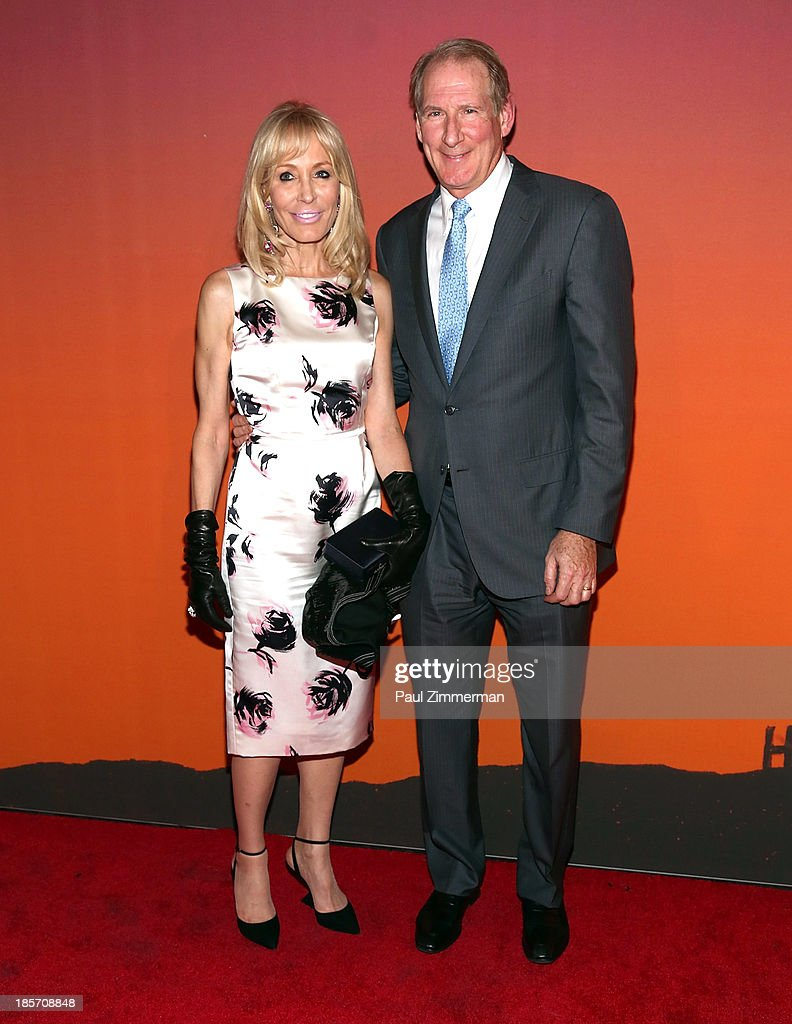 Paula Kraus (L) and James Krauss arrive at the 2013 Whitney Gala and Studio Party at Skylight at Moynihan Station on October 23, 2013 in New York City.