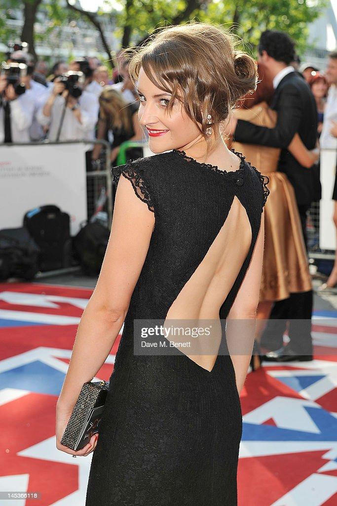 Paula Lane arrives at the Arqiva British Academy Television Awards 2012 at Royal Festival Hall on May 27, 2012 in London, England.