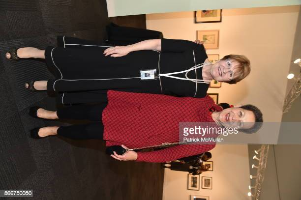 Paula Panczenko and Jane Glaubinger attend the IFPDA Fine Art Print Fair Opening Preview at The Jacob K Javits Convention Center on October 25 2017...