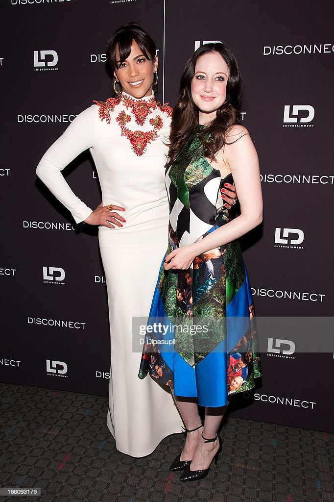 Paula Patton (L) and Andrea Riseborough attend the 'Disconnect' New York Special Screening at SVA Theater on April 8, 2013 in New York City.