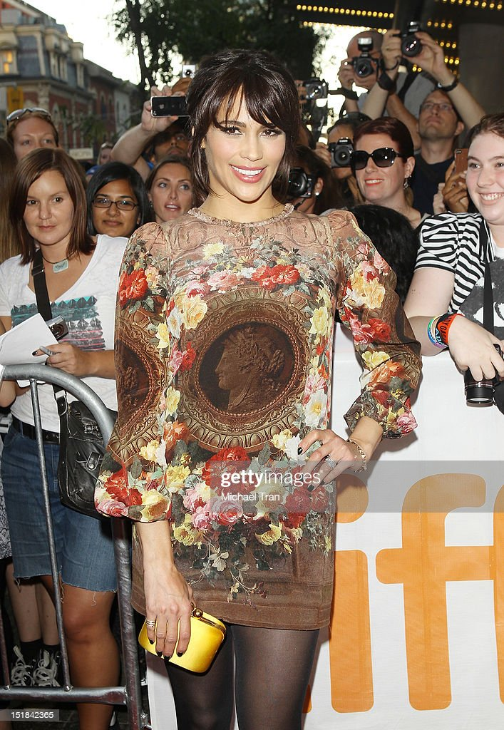 Paula Patton arrives at 'Disconnect' premiere during the 2012 Toronto International Film Festival held at Princess of Wales Theatre on September 11, 2012 in Toronto, Canada.