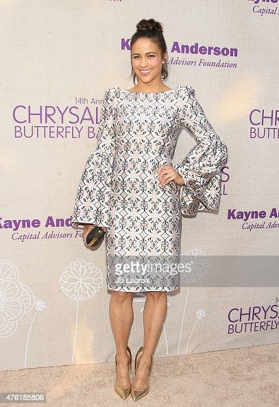 Paula Patton attends the 14th annual Chrysalis Butterfly Ball sponsored by Audi Kayne Anderson Lauren B Beauty and Z Gallerie on June 6 2015 in Los...
