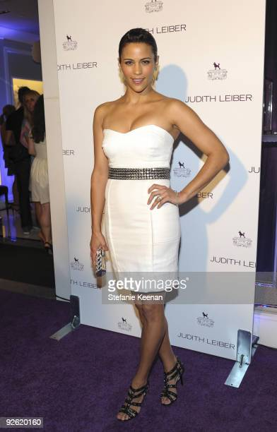 Paula Patton attends the Judith Leiber Rodeo Drive store opening on September 23 2009 in Beverly Hills California