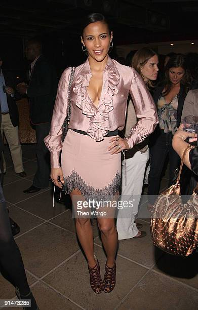 Paula Patton attends the launch party for new sitcom 'Sherri' at the Empire Hotel on October 5 2009 in New York City